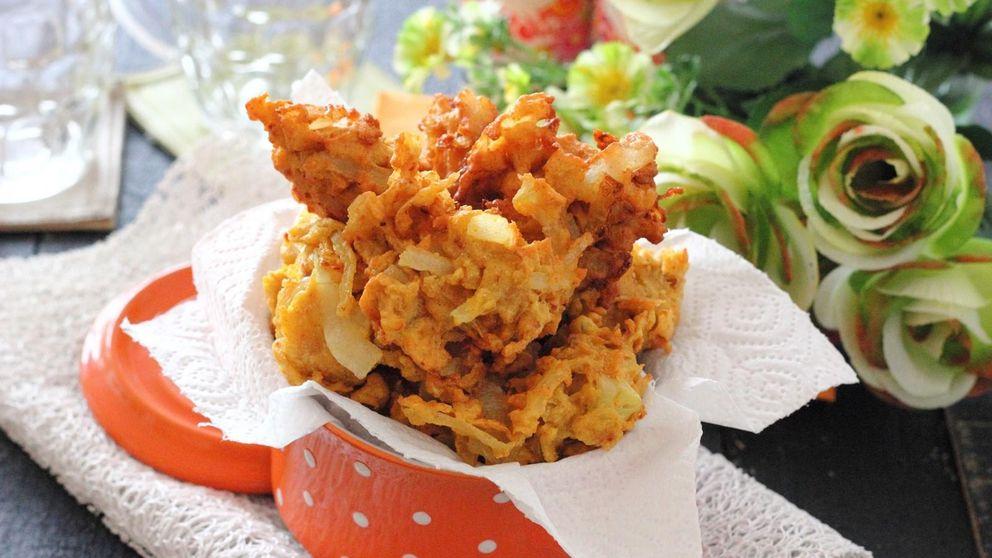 Bhaji de cebolla: el aperitivo frito hindú que cuesta menos de un euro