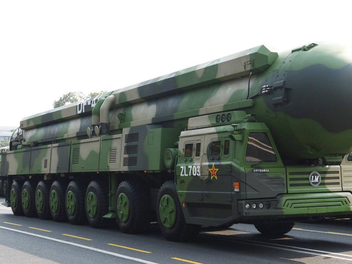 Foto: Lanzadera de misil balístico DF-41 (Gobierno Chino)