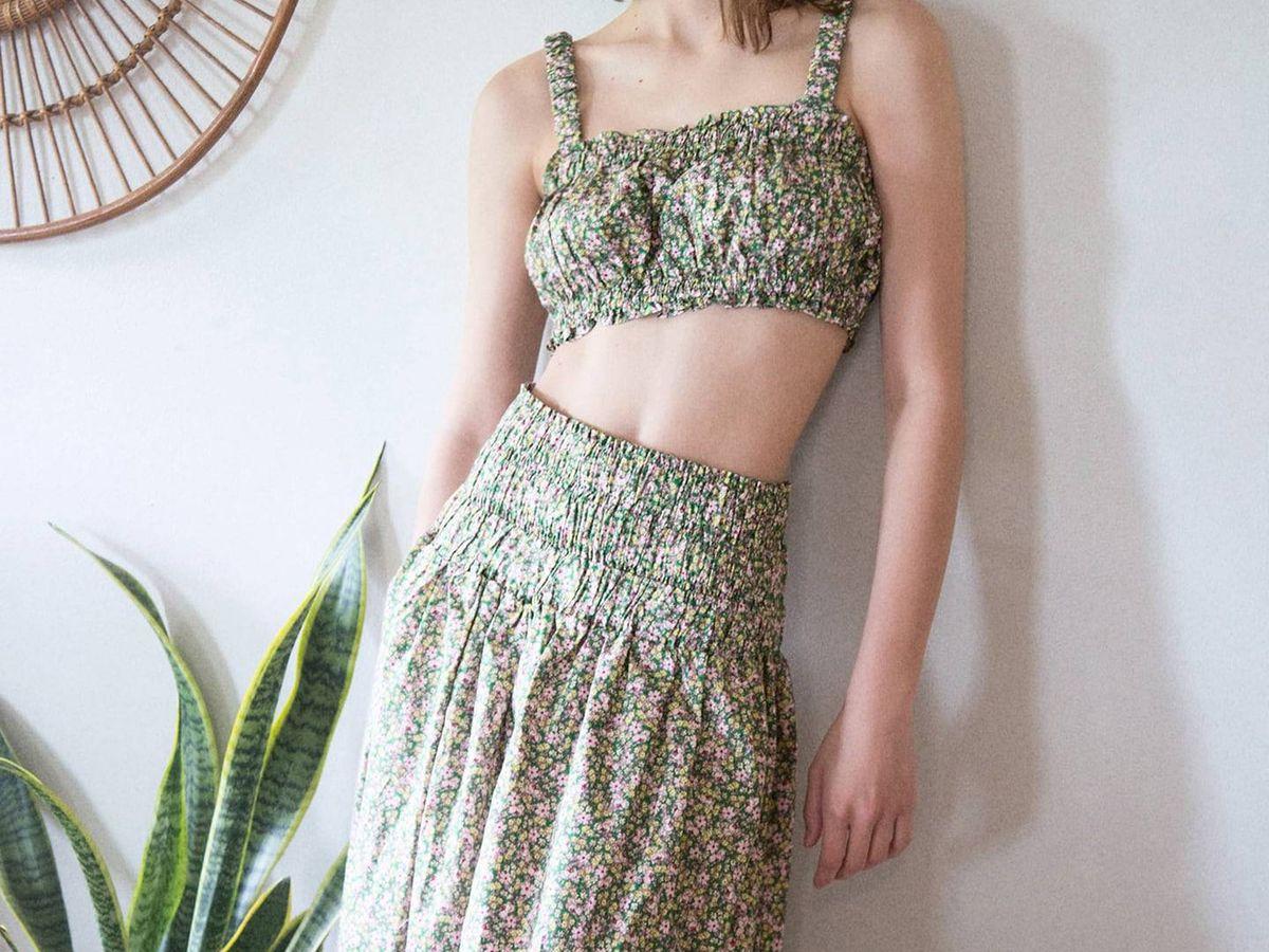 Foto: Top y falda de Zara. (Cortesía)