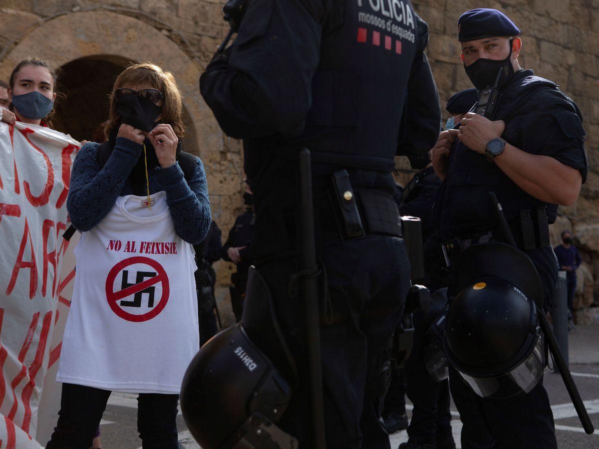 Foto: Protestas contra un acto de Vox en Tarragona, el pasado día 6. (EFE)