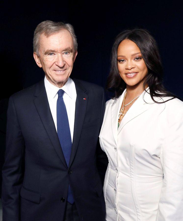 Foto: Bernard Arnault y Rihanna. (EFE)