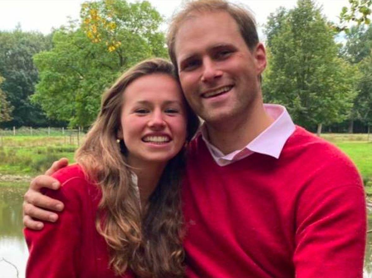 Foto: El príncipe Marc de Croÿ y Délia de Cossé-Brissac, los 'otros' novios del fin de semana. (Redes)