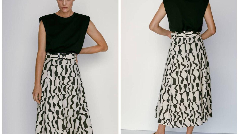 Nuevas faldas de Massimo Dutti. (Cortesía)