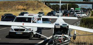 Post de Dos heridos tras chocar una avioneta contra dos coches en pleno centro de Portugal