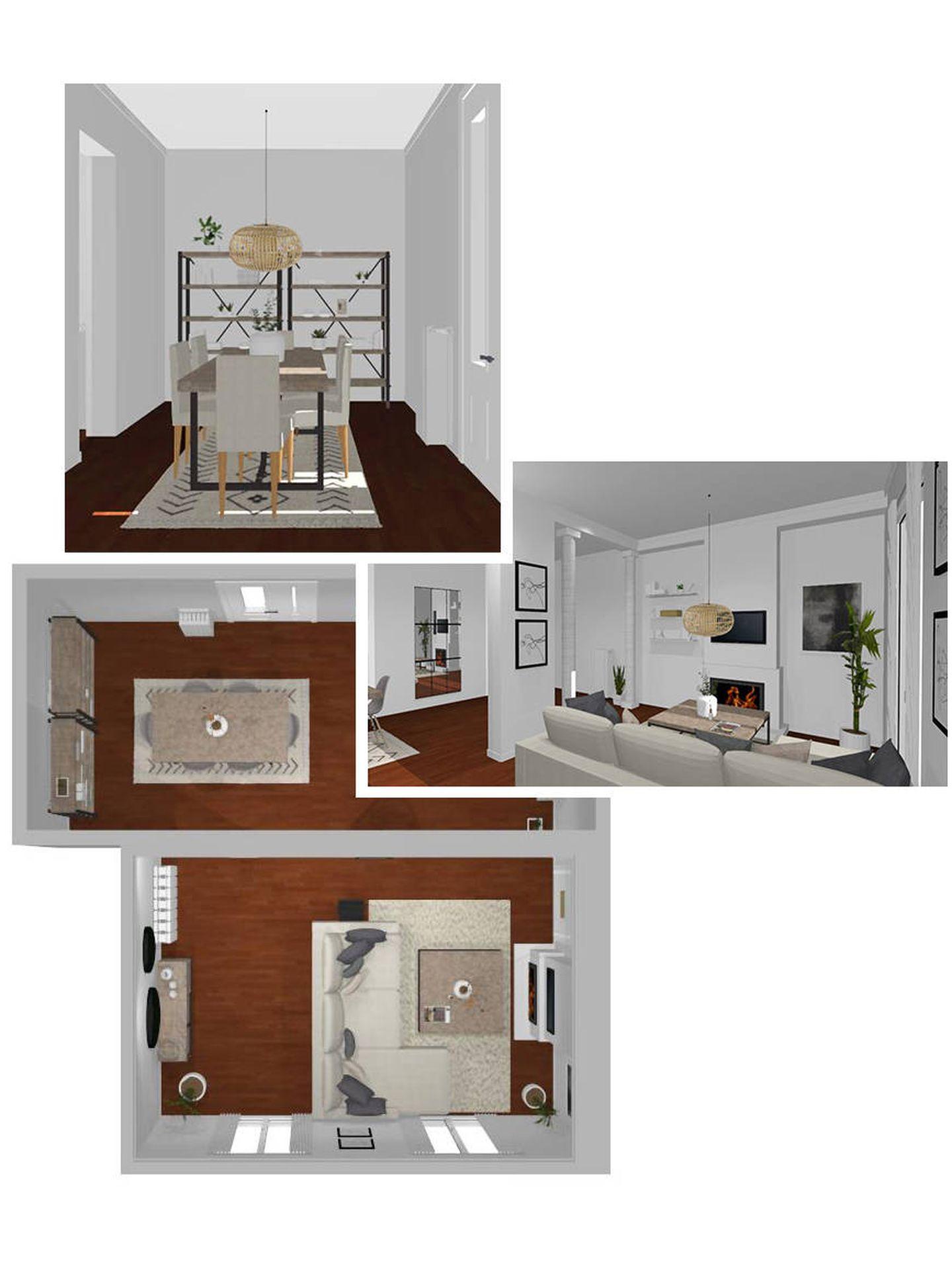 Planificación del salón de Mery Turiel. (Banak Importa)