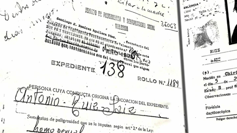 Ficha policial de Antoni Ruiz