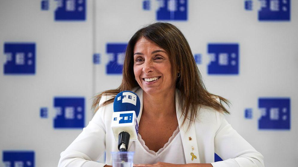 Foto: Meritxell Budó, durante una entrevista. (EFE)