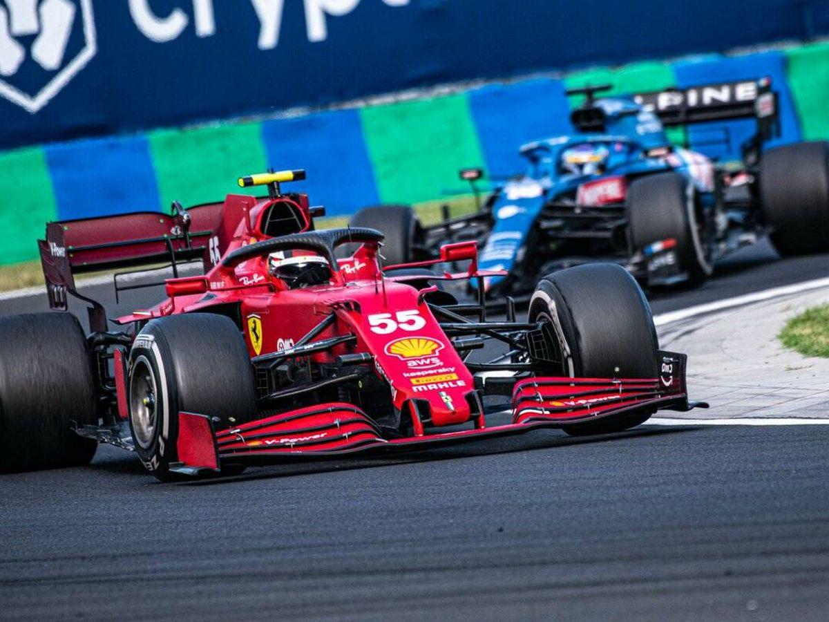 Foto: Sainz llega de lograr el podio en Hungaroring, y podría contar con opciones en Spa, más si cabe en caso de lluvia