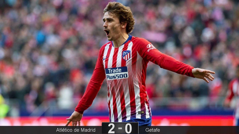 Foto: Griezmann marcó el primer gol del Atlético de Madrid ante el Getafe. (EFE)