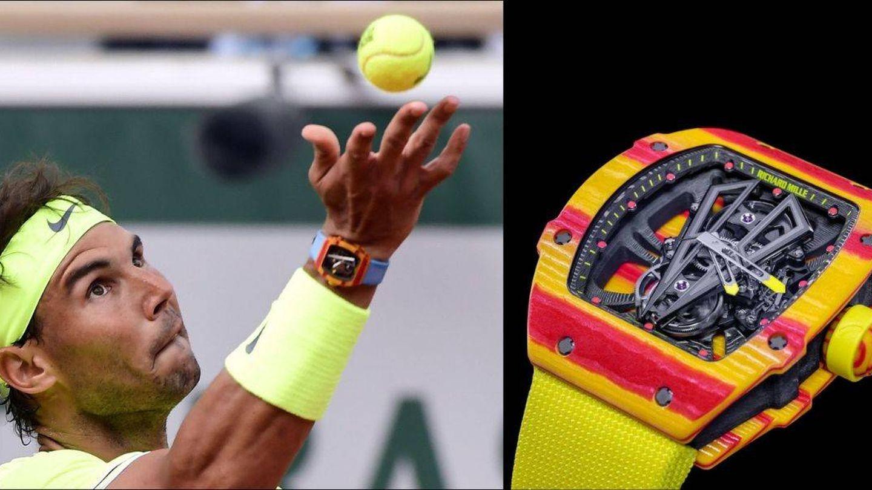 Rafa Nadal con el reloj de Richard Mille de 800.000 euros. (EFE / Cortesía)