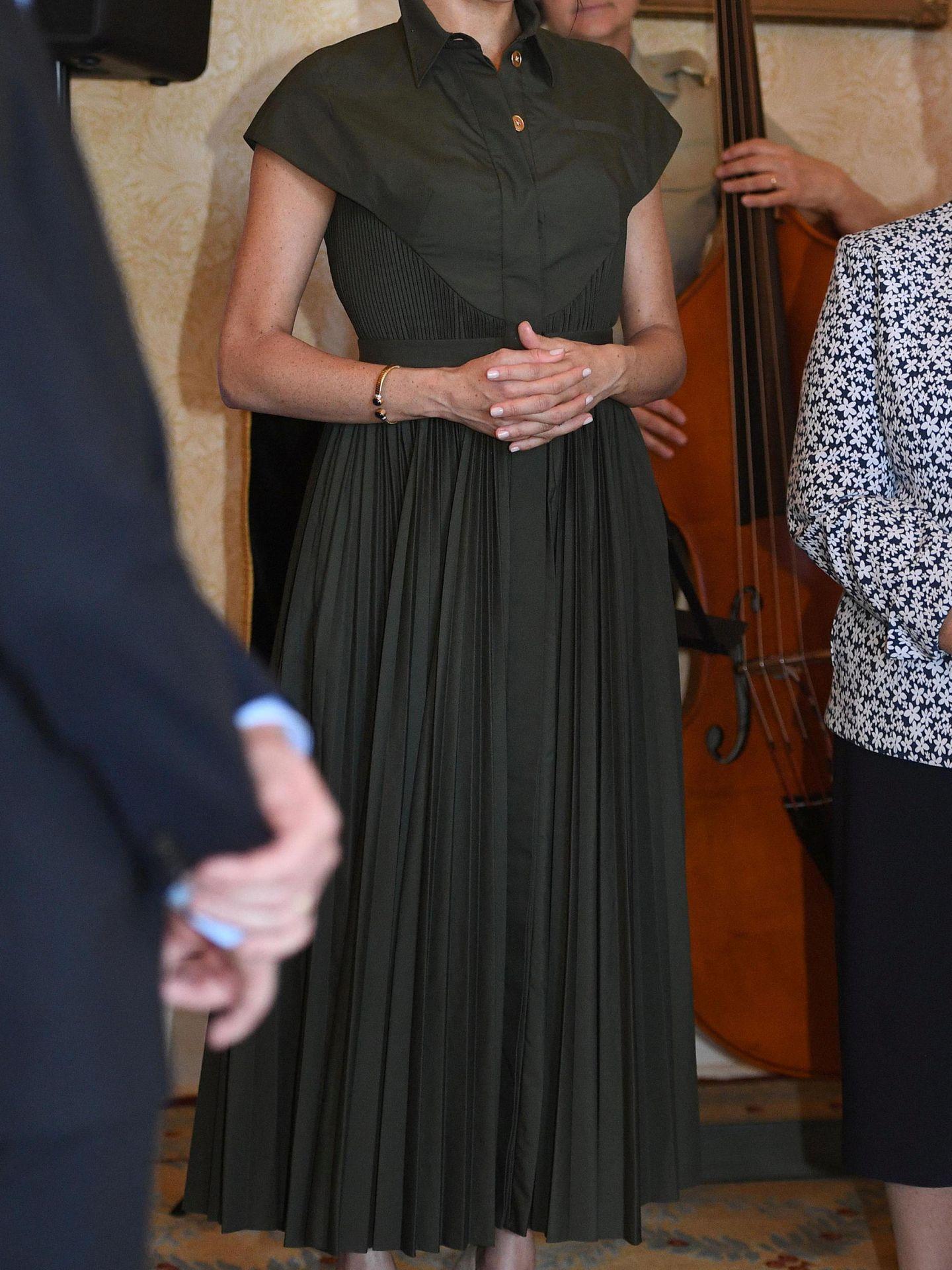 Segundo look de la duquesa. (Reuters)