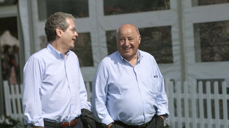 Pablo Isla y Amancio Ortega. (EFE)