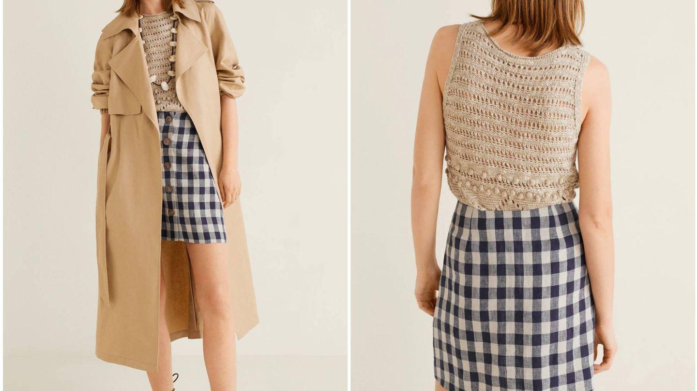 La falda que arrasa en Mango Outlet. (Cortesía)