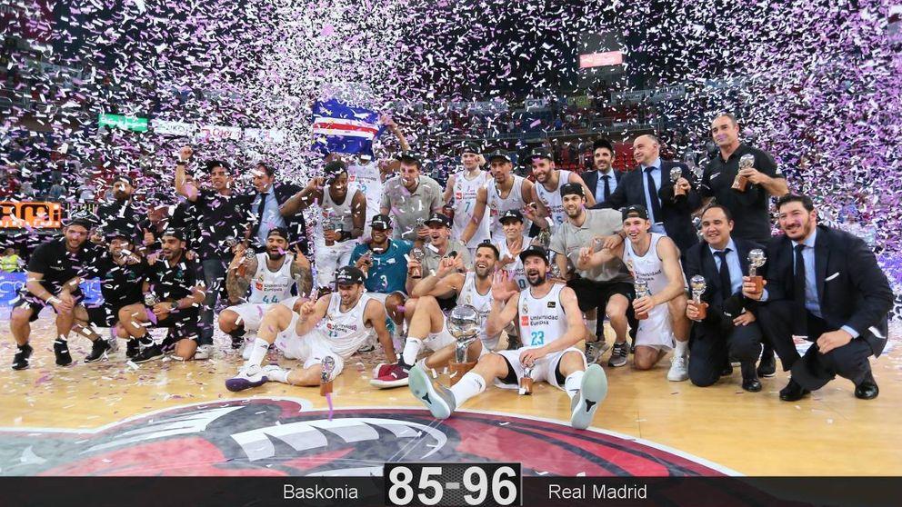 El Real Madrid recupera el título de la ACB con Rudy Fernández 'MVP'