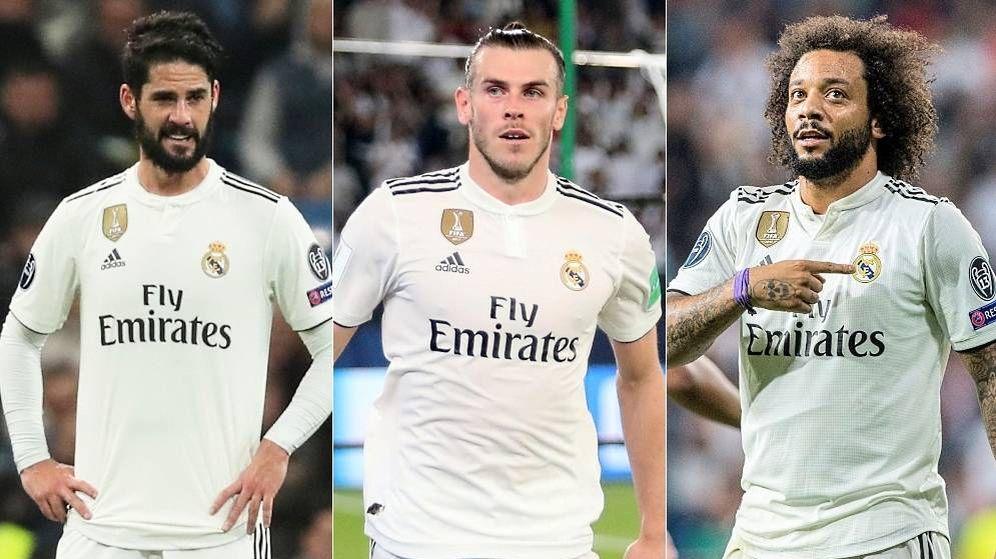 Foto: Isco, Bale y Marcelo, tres pesos pesados que han perdido protagonismo en el Real Madrid. (Montaje: EC)