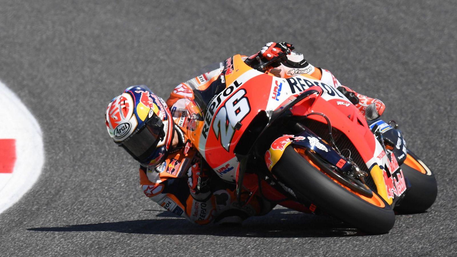 Foto: Dani Pedrosa dejará pronto de defender estos colores en MotoGP. (EFE)