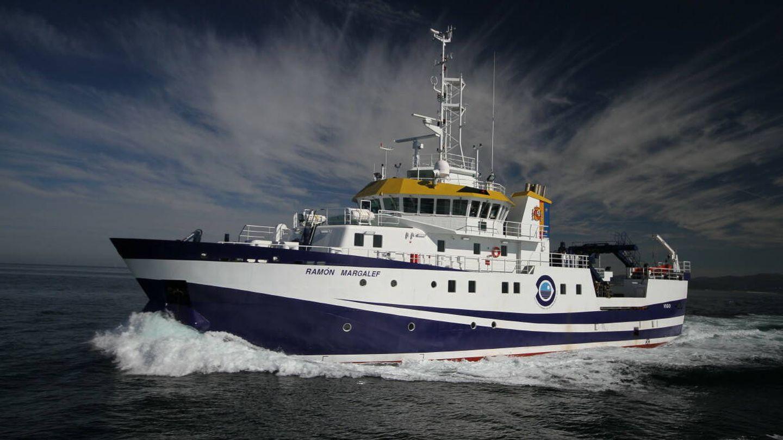 El buque oceanográfico Ramón Margalef.(IEO-CSIC)