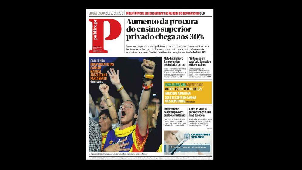 Foto: Elecciones catalanas en la prensa internacional: de portadas impresas con foto a discretas llamadas solo en la edición online
