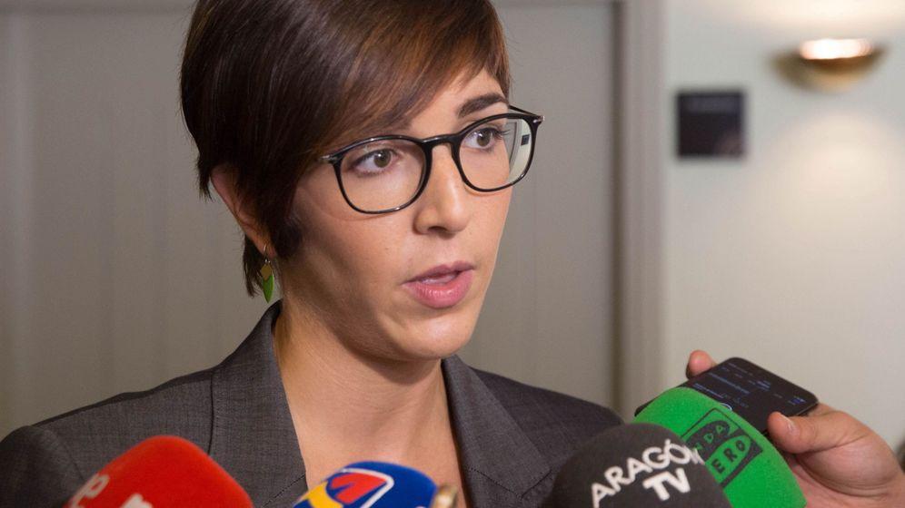 Foto: Violeta Barba, cabeza de lista de Podemos-Equo en Zaragoza. (EFE)