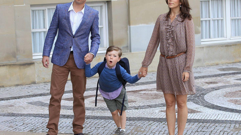Federico y Mary posan con Christian. (Getty)