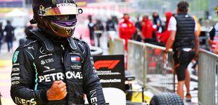Post de La épica guerra entre Hamilton y Verstappen bajo la lluvia, donde aparecen los grandes