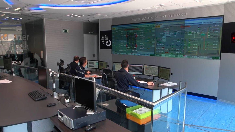 Sala de control de la planta de captura de CO2 en Cubillos del Sil cuando estaba operativa.