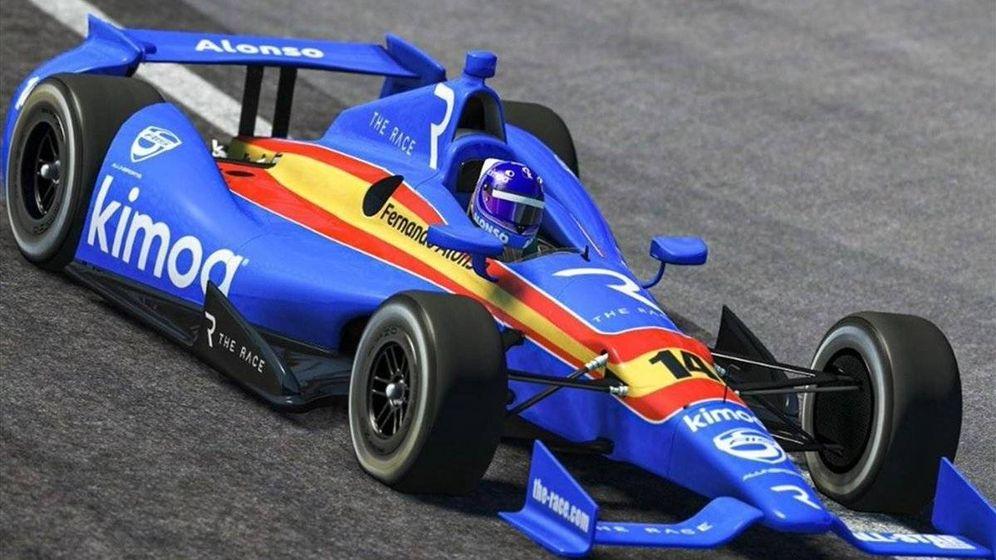 Foto: Fernando Alonso ha ganado cinco carreras virtuales seguidas, entre ellas las 500 Millas de Indianápolis frente a los habituales de la categoría