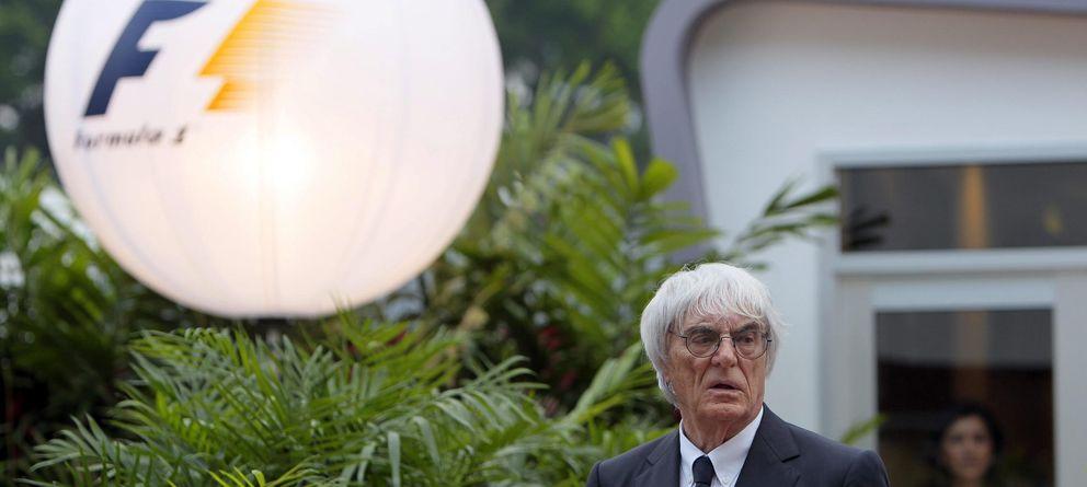 Foto: Bernie Ecclestone, en el Gran Premio de Singapur (Efe).