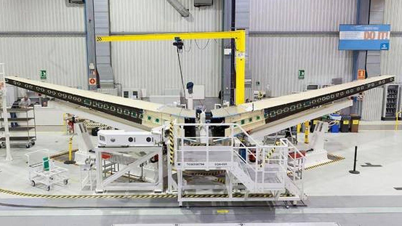 Estabilizador horizontal del A400M en Tablada, Sevilla. (Airbus)