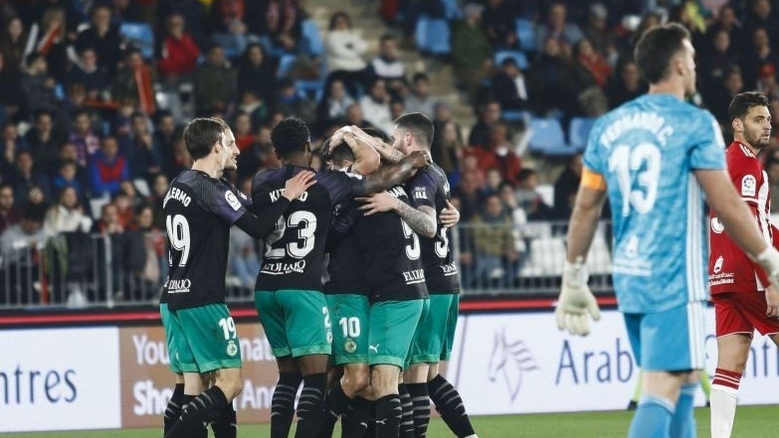 Foto: Jugadores del Racing de Santander celebran un gol. (Europa Press)
