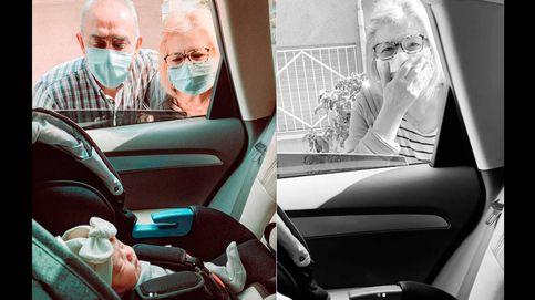 El coronavirus provoca que unos abuelos conozcan a su nieta por sorpresa