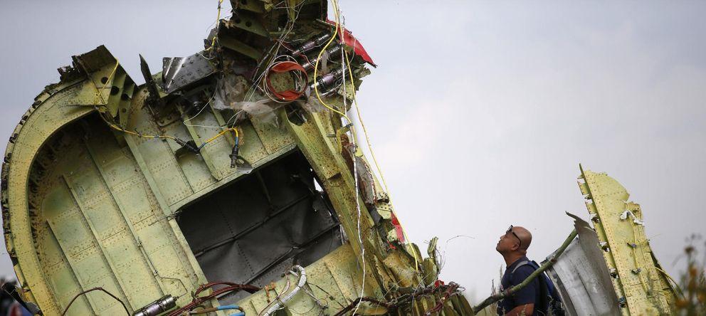 Foto: Restos del vuelo MH17 de Malaysia Airlines (Reuters)