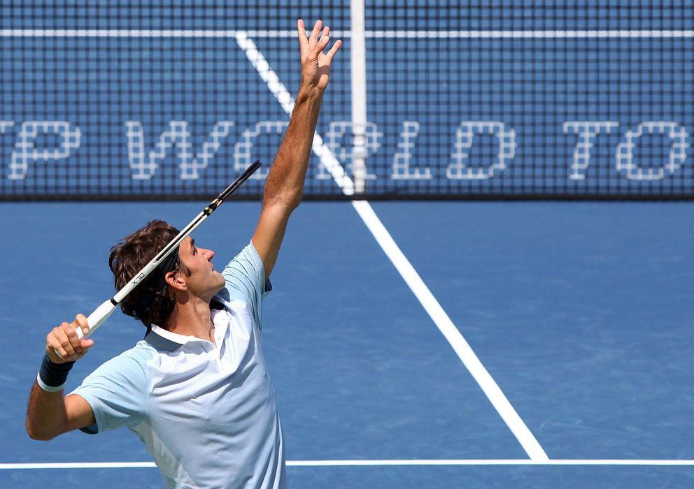 Foto: El suizo Roger Federer tuvo un cómodo debut en el US Open.