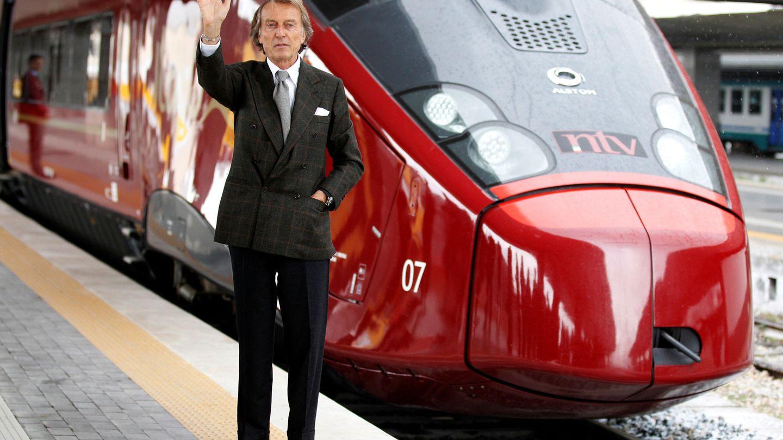 Luca Cordero di Montezemolo, presidente de NTV, ante uno de los trenes de alta velocidad en 2012.