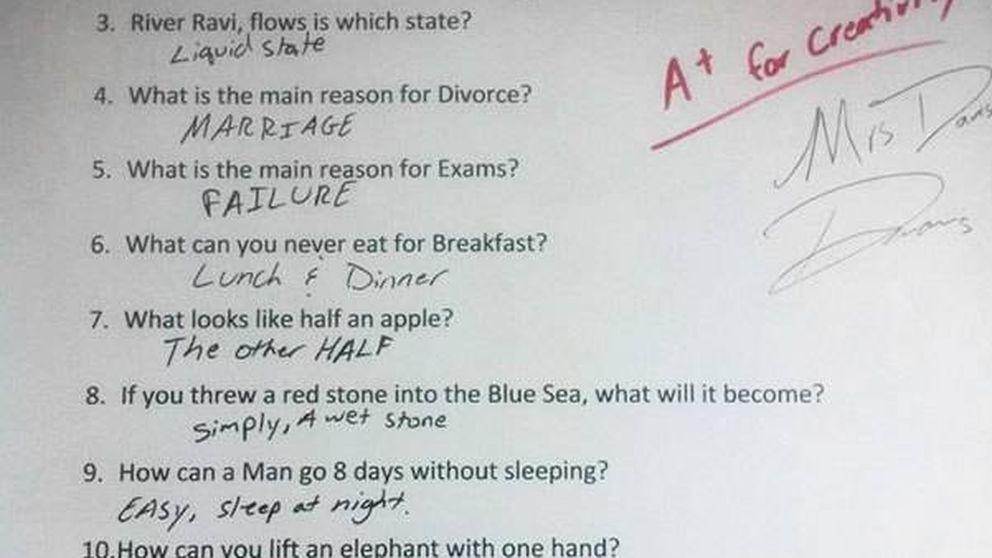 Las respuestas más ingeniosas que se han dado en los exámenes
