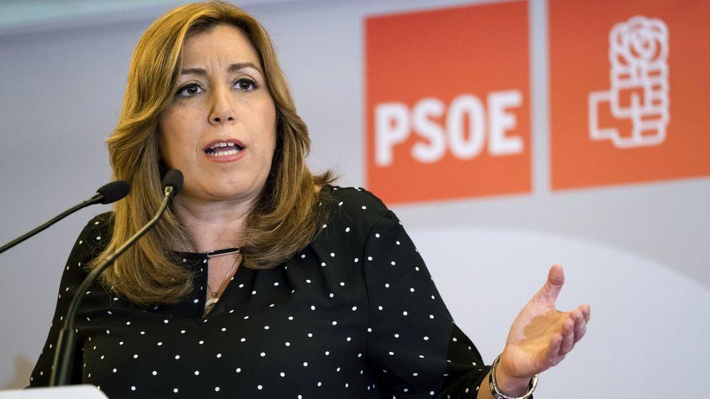 Foto: Susana Díaz, este 1 de abril en Las Palmas de Gran Canaria, tras asistir al comité federal del PSOE en Ferraz. (EFE)