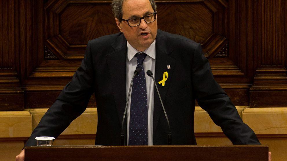 Un Quim Torra entregado a Puigdemont basa su discurso en una desobediencia retórica