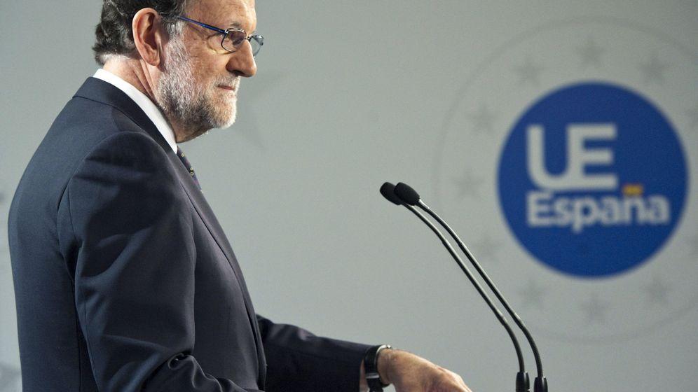 Foto:  El presidente del Gobierno español en funciones, Mariano Rajoy, durante la rueda de prensa tras la reunión del Consejo Europeo celebrado en Bruselas. (EFE)