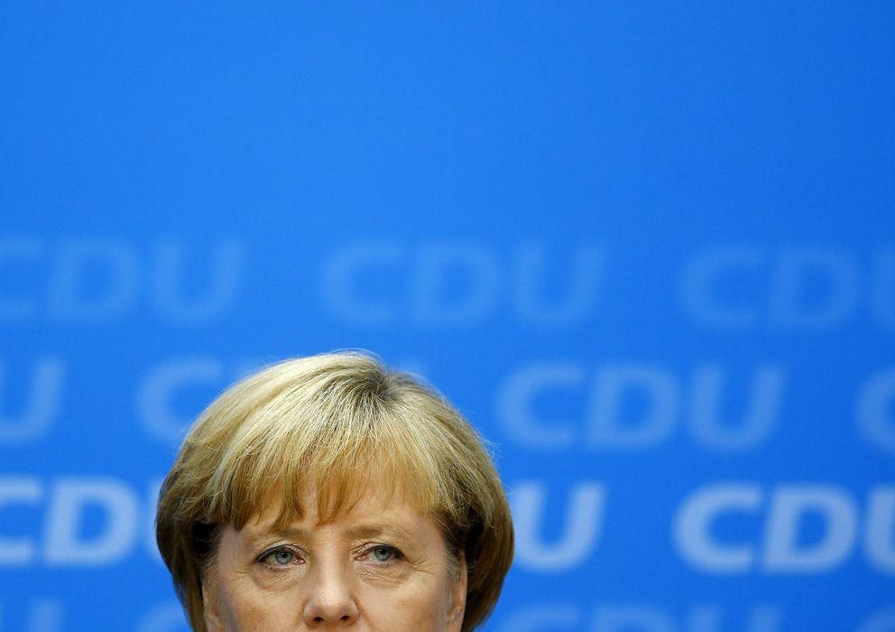 Foto: La canciller durante la rueda de prensa que ofreció ayer para analizar los resultados electorales. (Reuters)