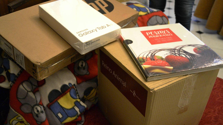 Los paquetes en casa de Balbina. (M. Z.)