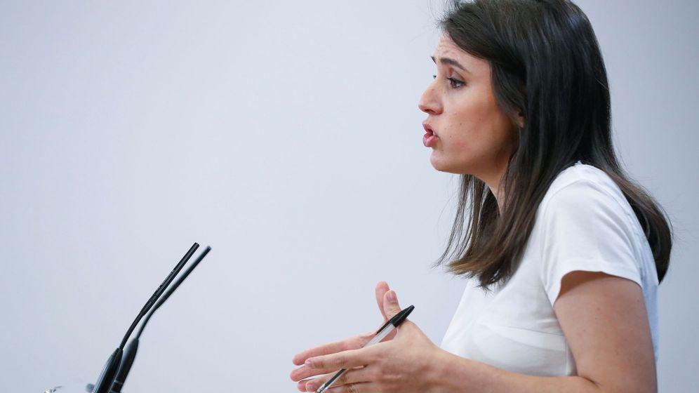 Foto: La portavoz de Unidas Podemos, Irene Montero. (EFE)