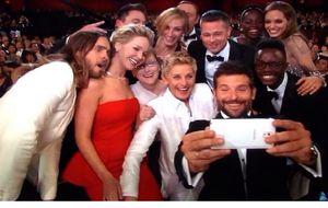 La autofoto de Ellen Degeneres en los Óscar, la más retuiteada de la historia