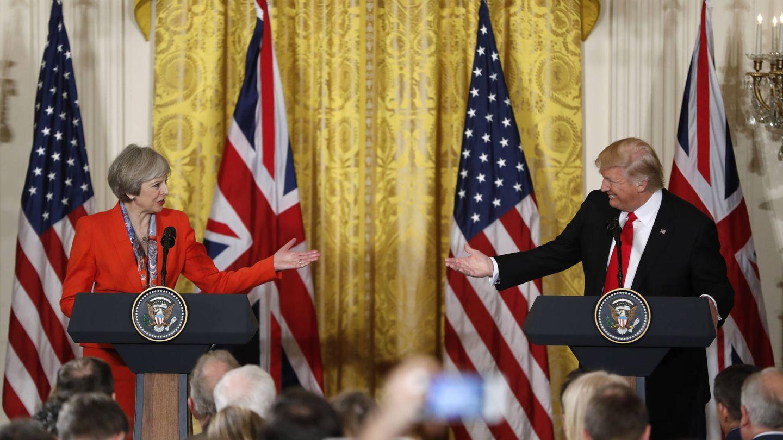 Theresa May y Donald Trump. (Gtresonline)
