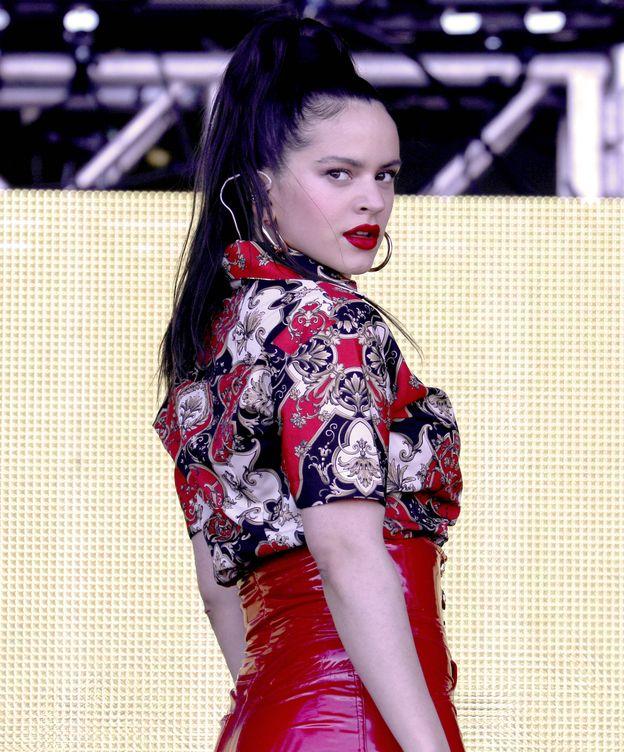 Foto: Rosalía, actuando en un festival en Virginia Beach. (Getty)