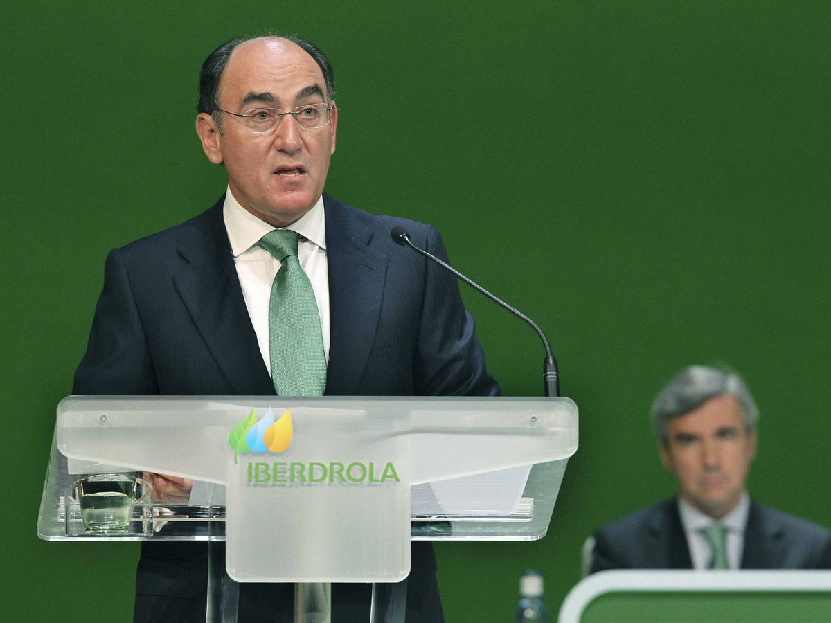Foto: El presidente del Iberdrola, Ignacio Sánchez Galán (i), y el consejero Ángel Acebes. (EFE)