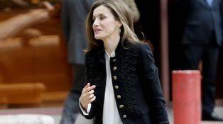 El sencillo look de Doña Letizia tras la 'resaca' de la visita argentina