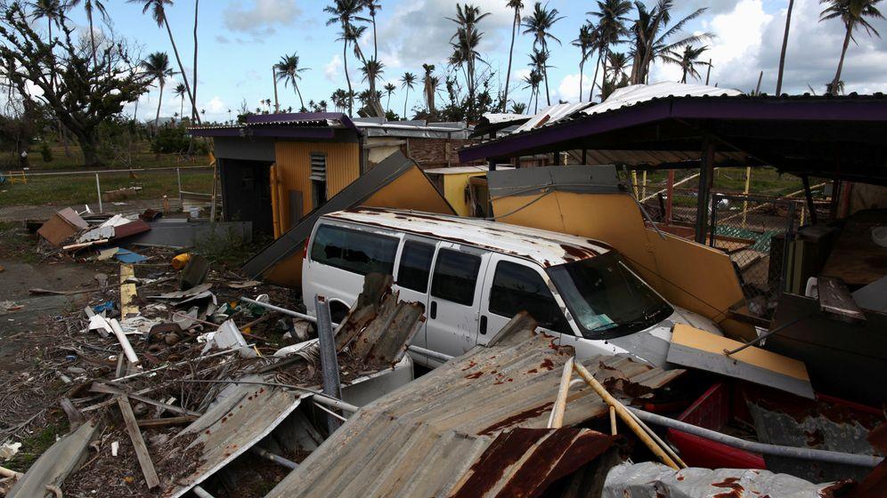 Foto: Restos después del paso del huracán María por Puerto Rico. (Reuters)