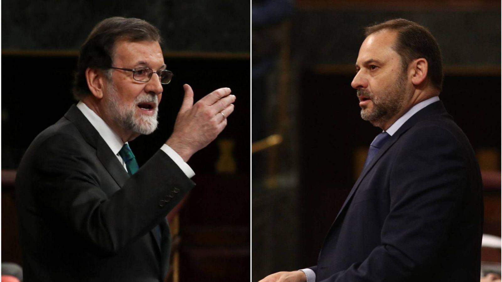 Foto: Mariano Rajoy y José Luis Ábalos durante la moción de censura   Reuters/Cordon