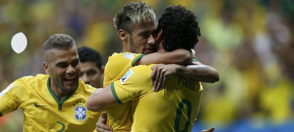 Foto: Neymar celebra un gol con Brasil (Reuters).