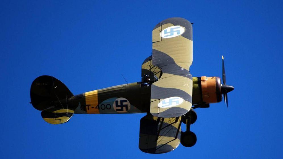 Foto: Un avión restaurado de la aviación militar finlandesa. (Dave_S / Flickr)